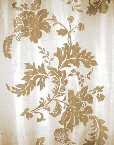 Floral in Motion - Gold on Ivory