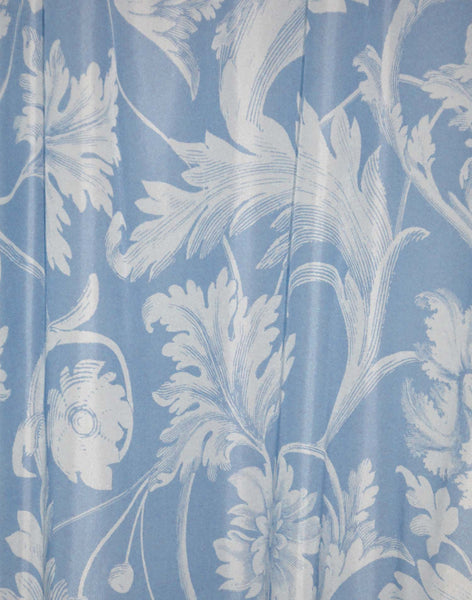 Four Seasons Curtain - peri blue and pale grey
