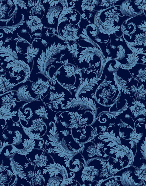Four Seasons Velvet - Dark Blue