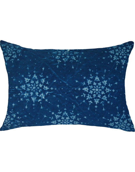 Plaiedes Pillow - dark blue