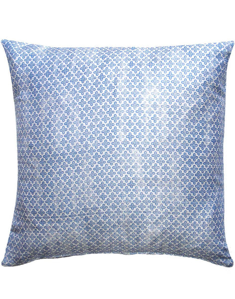 Allover Cross Pillow - peri blue & white