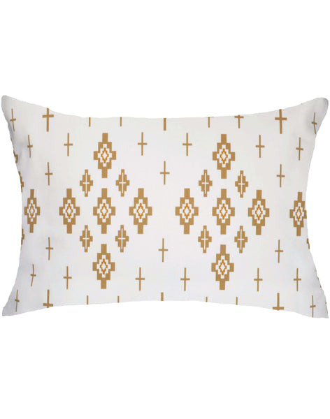 Celestial Lights Pillows - gold on white