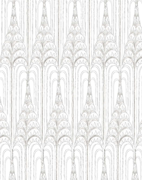 High Rise wallpaper - grey on off-white