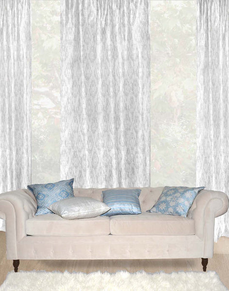 Ikat Geo - pale grey on white