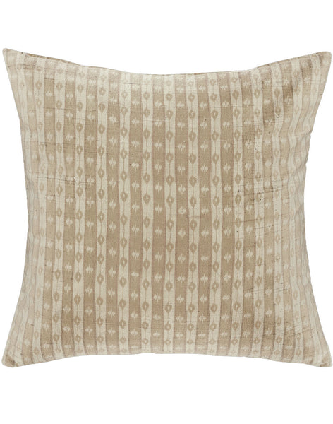 Ikat Stripe pillow - Barley