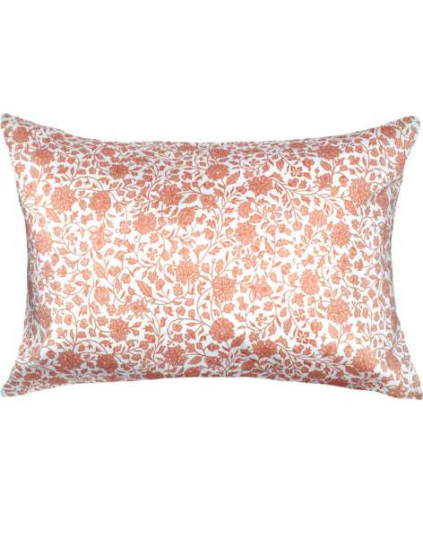 Indian Sky Pillow - coral on off-white