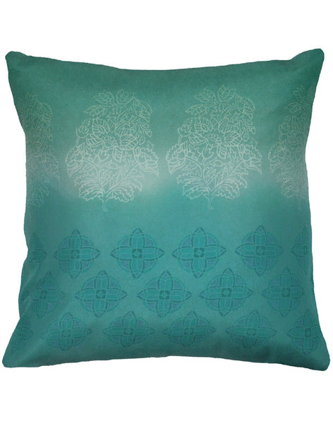 Ombre Indienne Pillow - jade