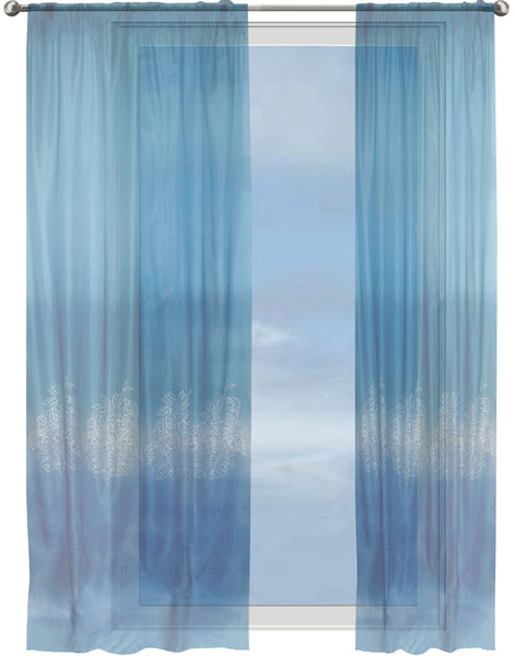 Ombre Indienne Border Sheer Curtain