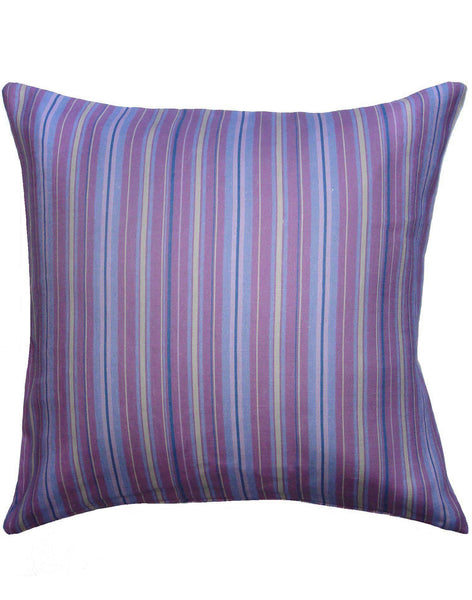 Kukoy Stripe Pillow - magenta & blue