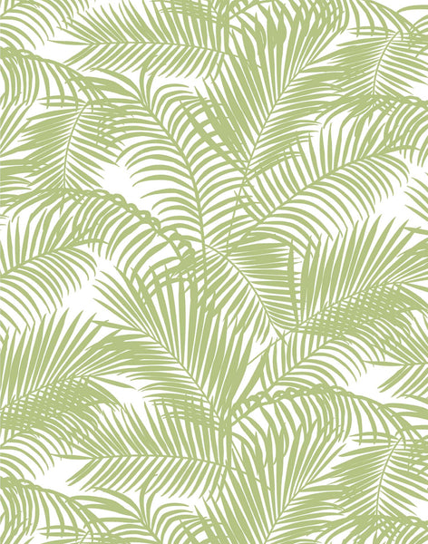 Majestic Palm Fabric - Light Olive
