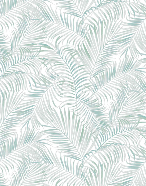 Majestic Palm wallpaper - light sage & grey