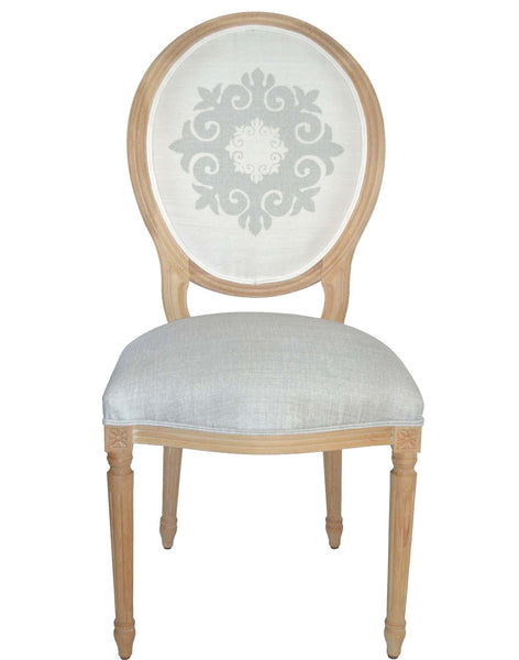 Medallion Chair - Grey on white