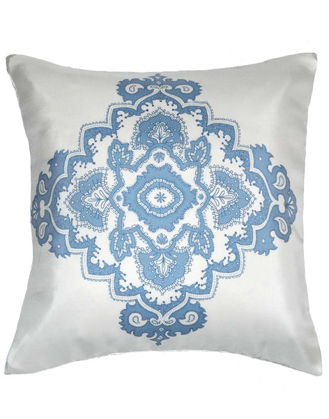 Mediterranean Crest pillow - blue & white