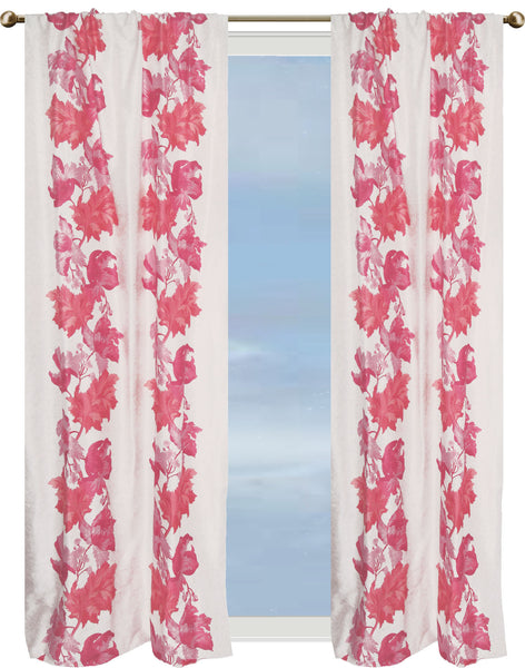 Poppy Mania Curtain - red & orange