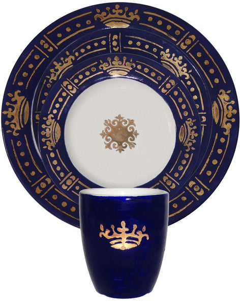Prince's Side Plate - Gold on Blue