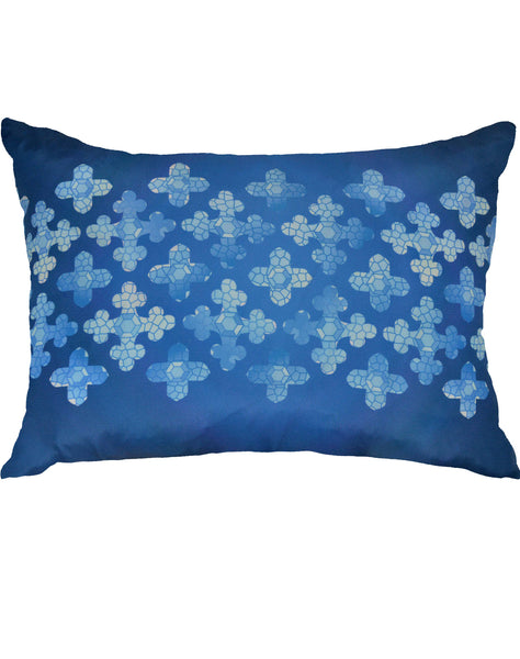 Stainglass Pillow - blues