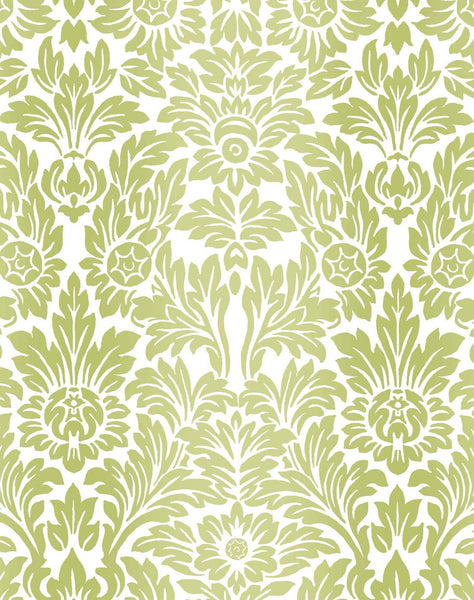 Sundance Wallpaper - Chartreuse & White