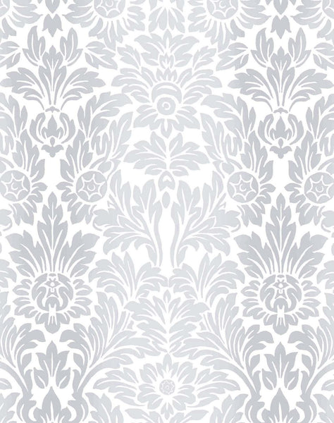 Sundance Wallpaper - Pale Grey & White