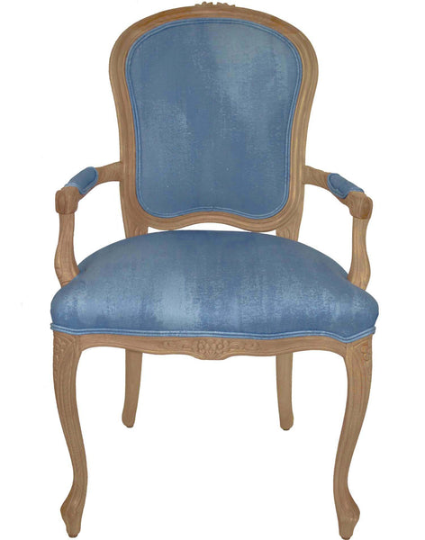 Textured Blue Armchair