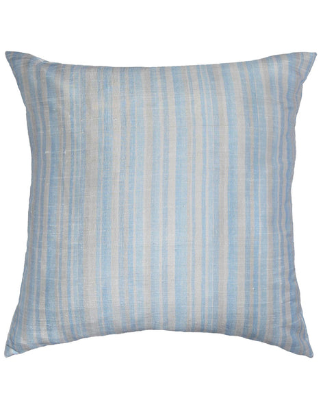 Fading stripe pillow - blue & grey