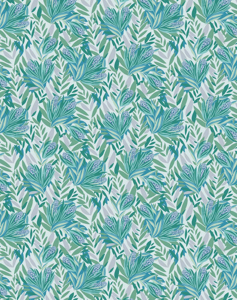 Tropical Season  wallpaper - aquas & blues