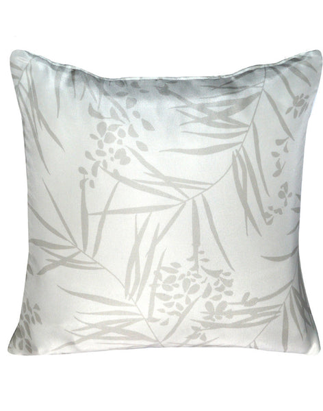 Tropical Storm Pillow - grey & white