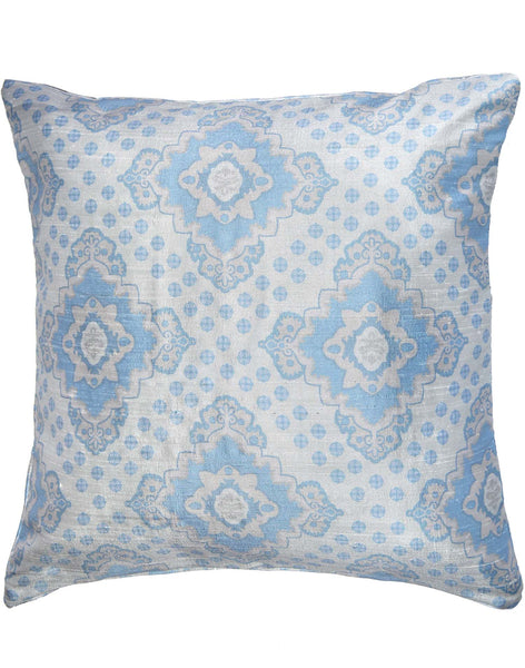 Aegean Geometric pillow - blue & grey