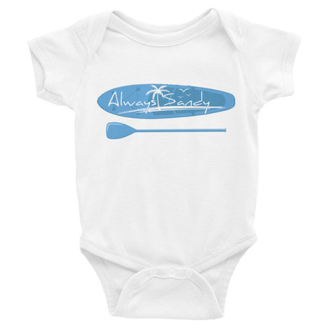 Infant short sleeve onesie - paddle board