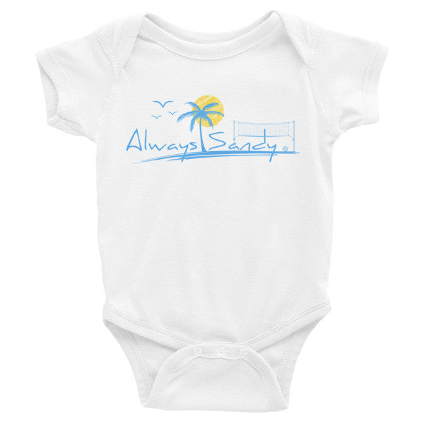 Infant short sleeve onesie - Beach volleyball design