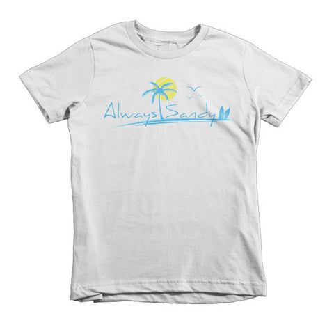 Kids Short Sleeve T-shirt - 100% Cotton - Sun (2YRs-6YRs) - Always Sandy