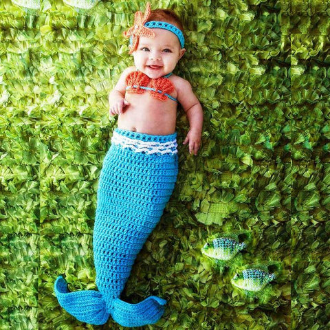 Baby Mermaid Photoshoot Outfit