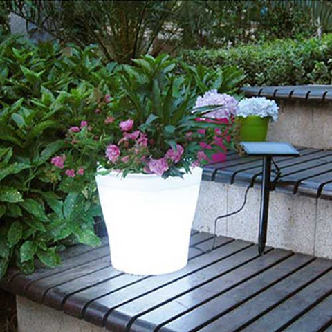 LED Colored Plant Pot