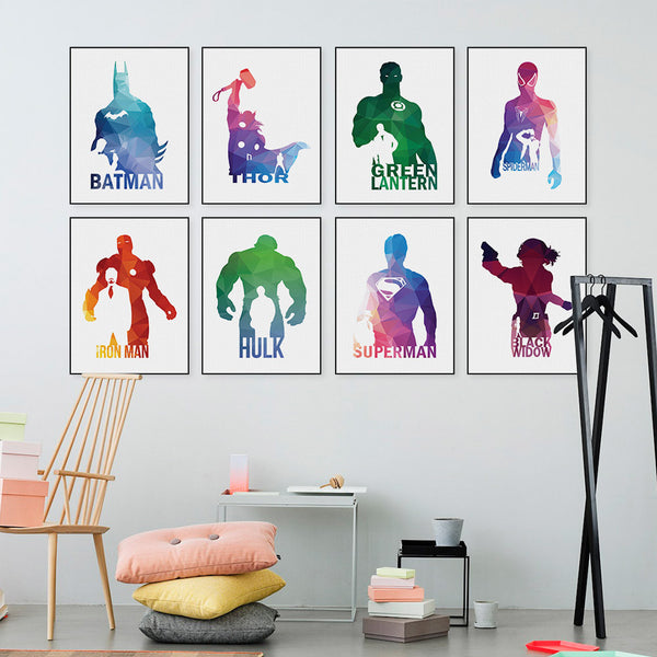 ... Super Hero Poster   Wall Art Home Decor No Frame ...