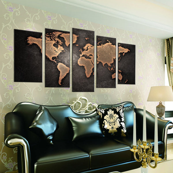 5 pcs abstract world map canvas wall art painting unregiftable 5 pcs abstract world map canvas wall art painting gumiabroncs Gallery