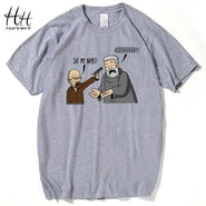 Breaking Bad - Game of Thrones T Shirts - Hodor v's Heisenberg Man Tee Shirt - Hold The Door