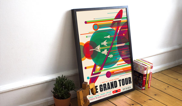 Framed Grand Tour poster