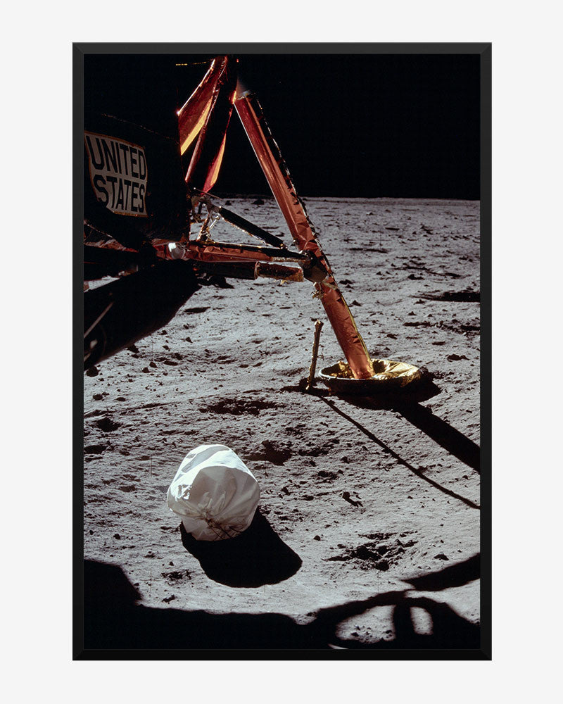 space posters, nasa posters, apollo 11 images, neil armstrong's first photo on the moon