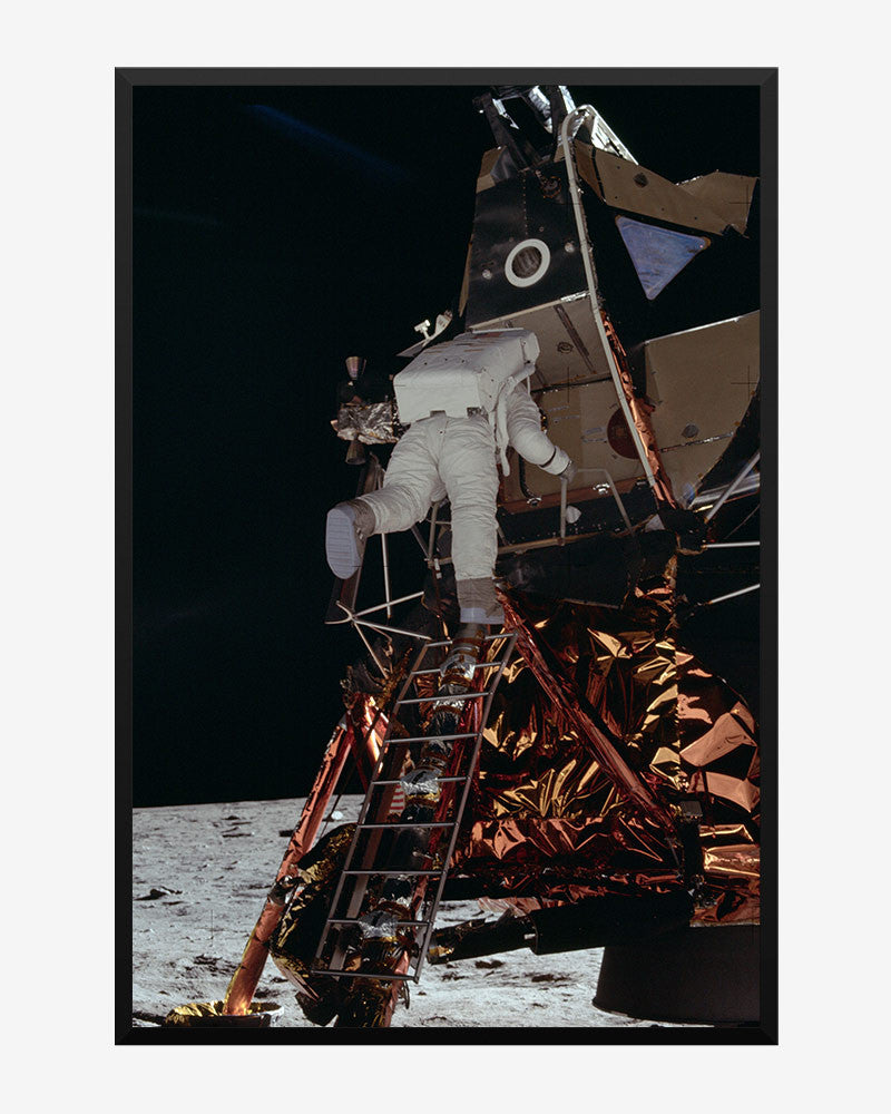 space posters, nasa posters, apollo 11 images, egressing the lunar module