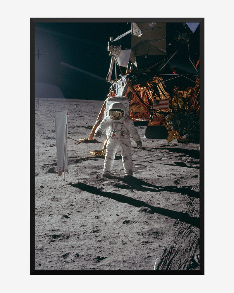 space posters, nasa posters, apollo 11 images, buzz aldrin's lunar walk