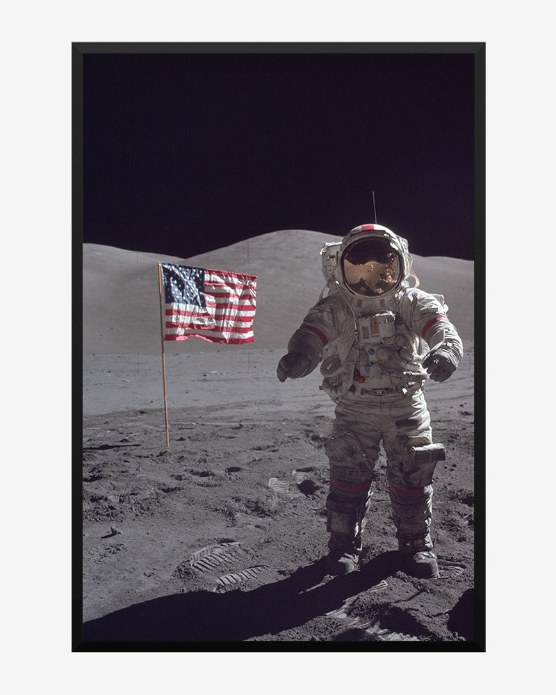 space posters, nasa posters, apollo 17 images, last man on the moon
