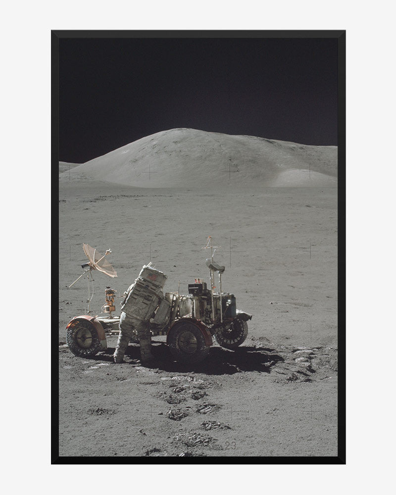 space posters, nasa posters, apollo 17 images, lunar rover
