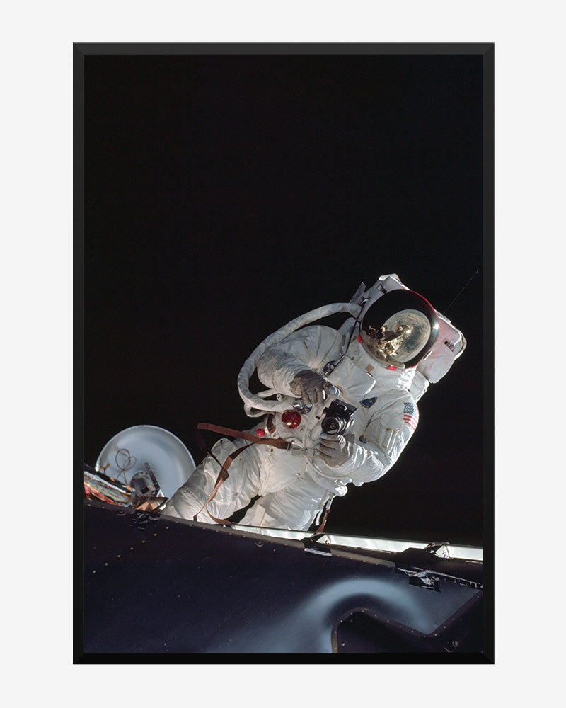 space posters, nasa posters, apollo 9 images, command module break, russell schweickart eva