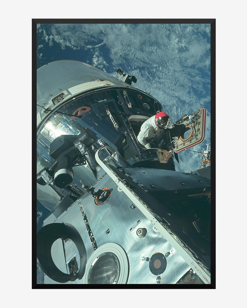 space posters, nasa posters, apollo 9 images, command module break