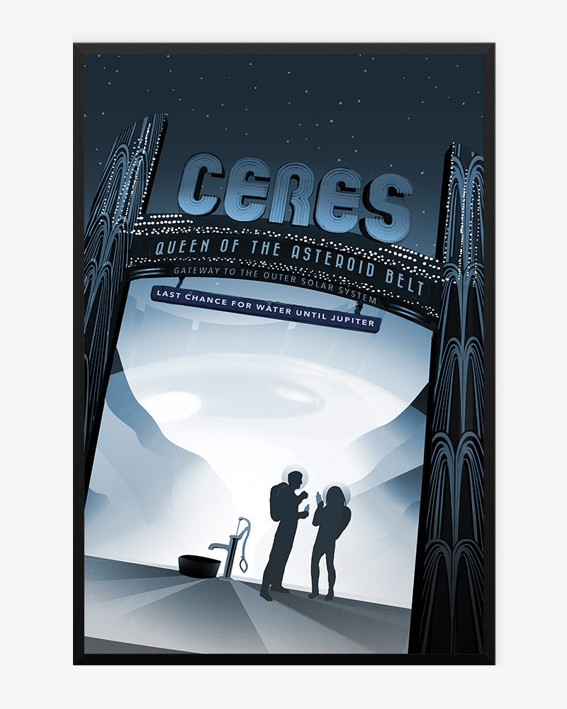 space posters, nasa visions of the future, ceres