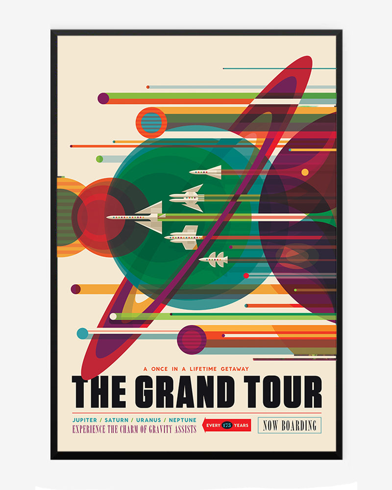 space posters, nasa visions of the future, the grand tour