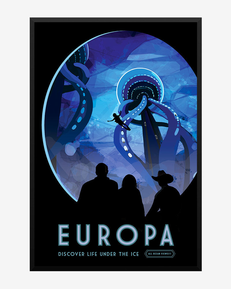 space posters, nasa visions of the future, europa