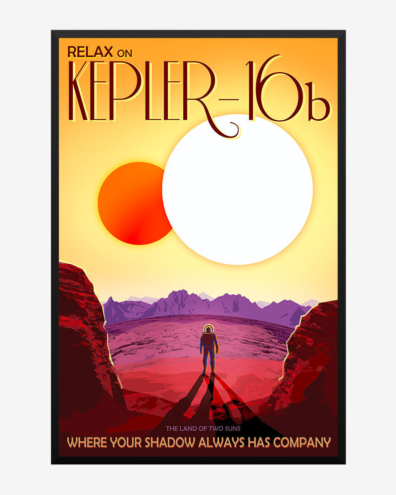 space posters, nasa visions of the future, kepler 16b