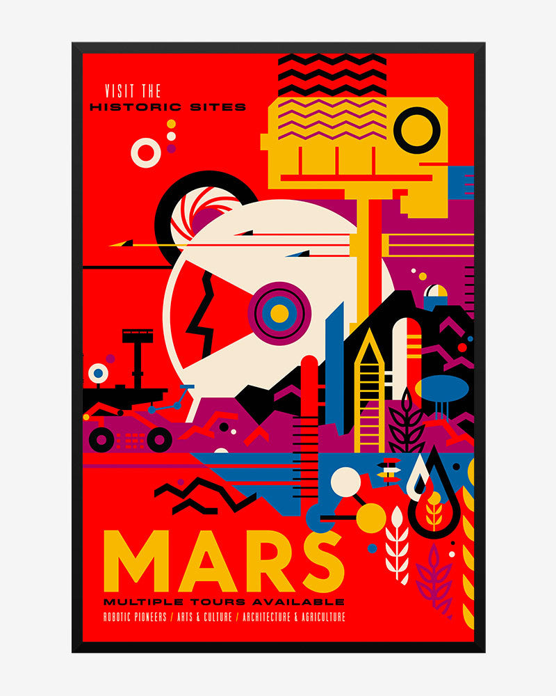 space posters, nasa visions of the future, mars