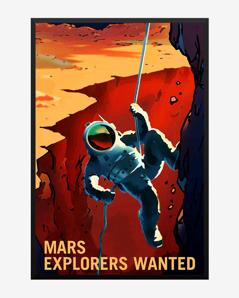 space posters, nasa mars exolorers wanted, mars explorers wanted