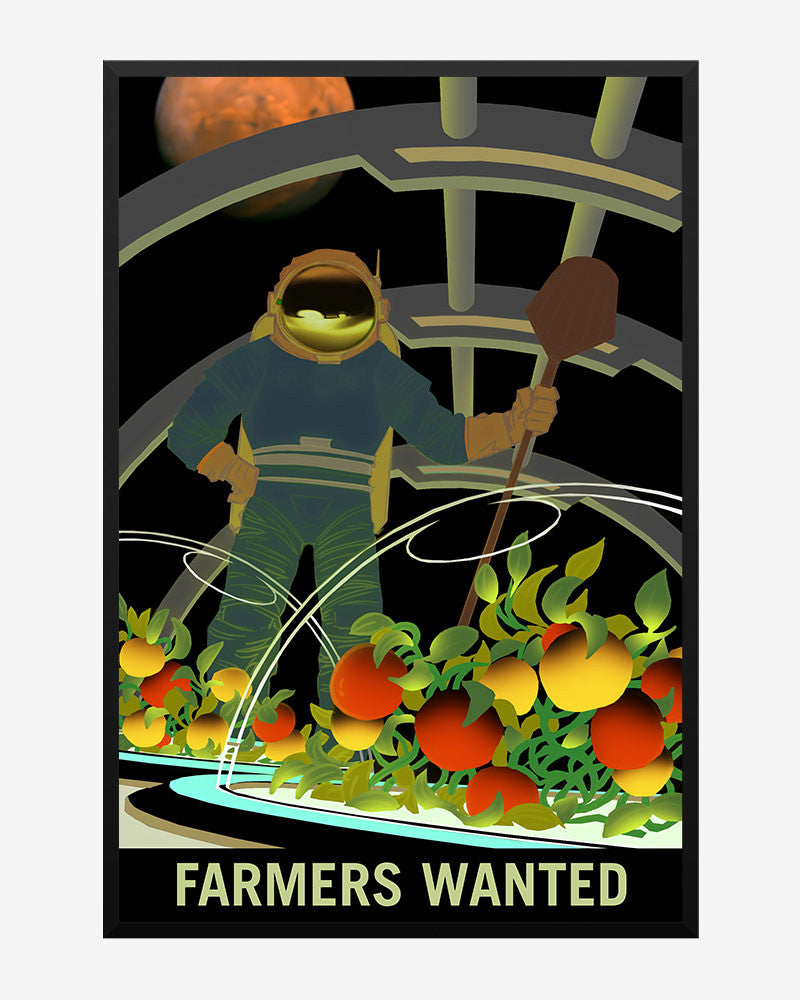 space posters, nasa mars exolorers wanted, farmers wanted
